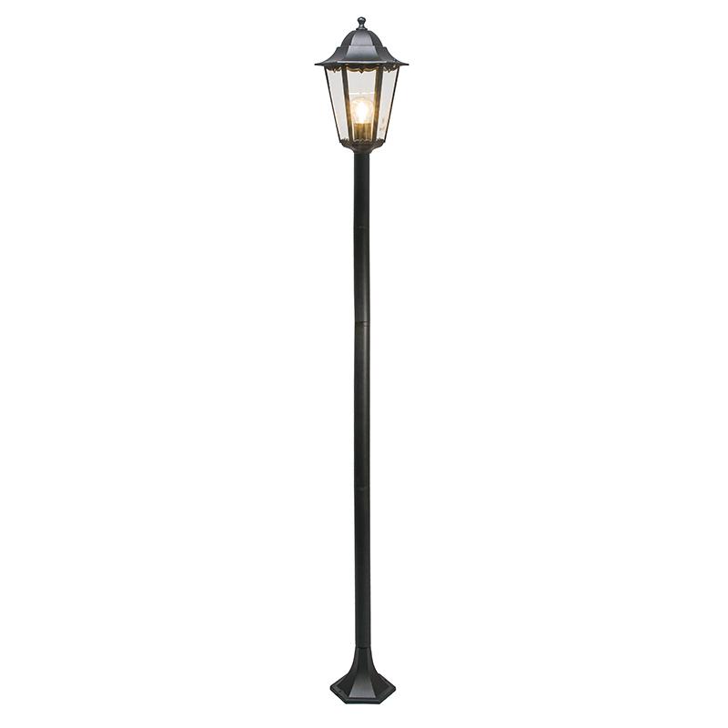 Klasyczna lampa zewnętrzna czarna 170cm IP44 - New Orleans