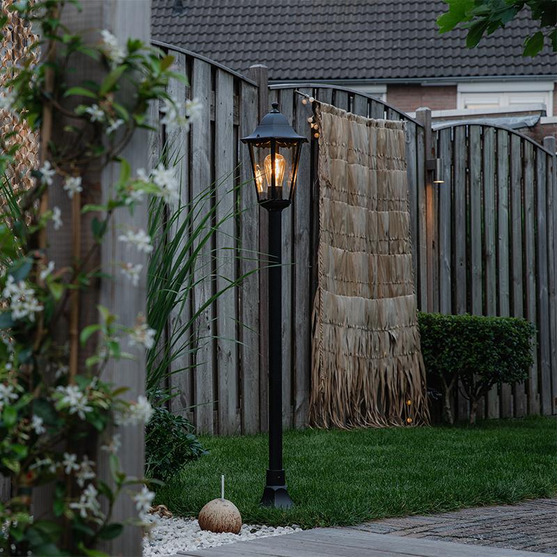 Klassieke staande buitenlamp zwart IP44 125 cm - New Orleans