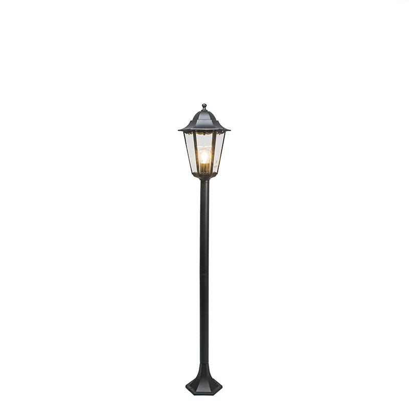 Klassieke staande buitenlamp zwart 127,5cm IP44 - New Orleans