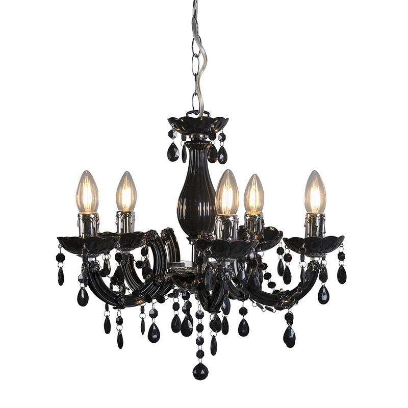 Hanglamp Marie Theresa 5 zwart