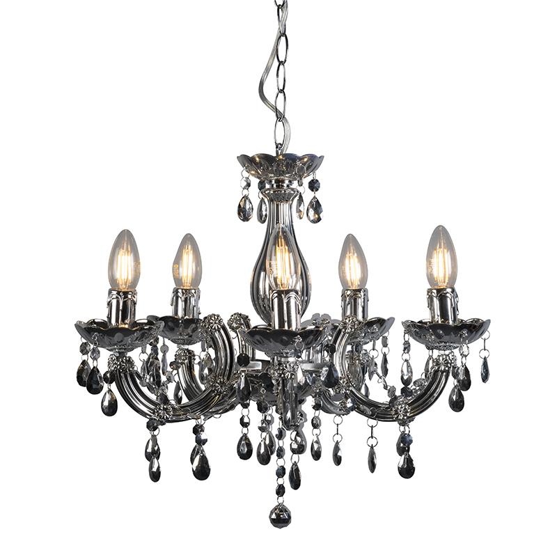Hanglamp Marie Theresa 5 zilver