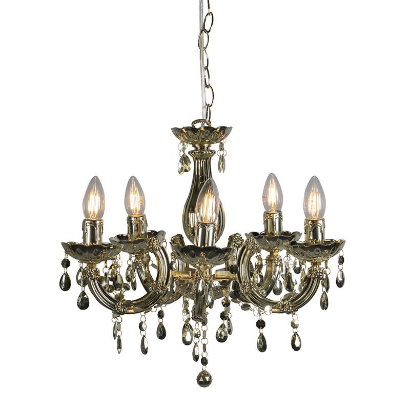 Hanglamp Marie Theresa 5 goud