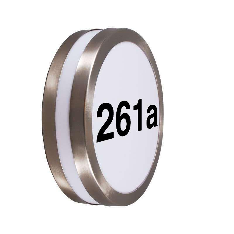 Buitenwandlamp RVS met huisnummer IP44 - Leeds