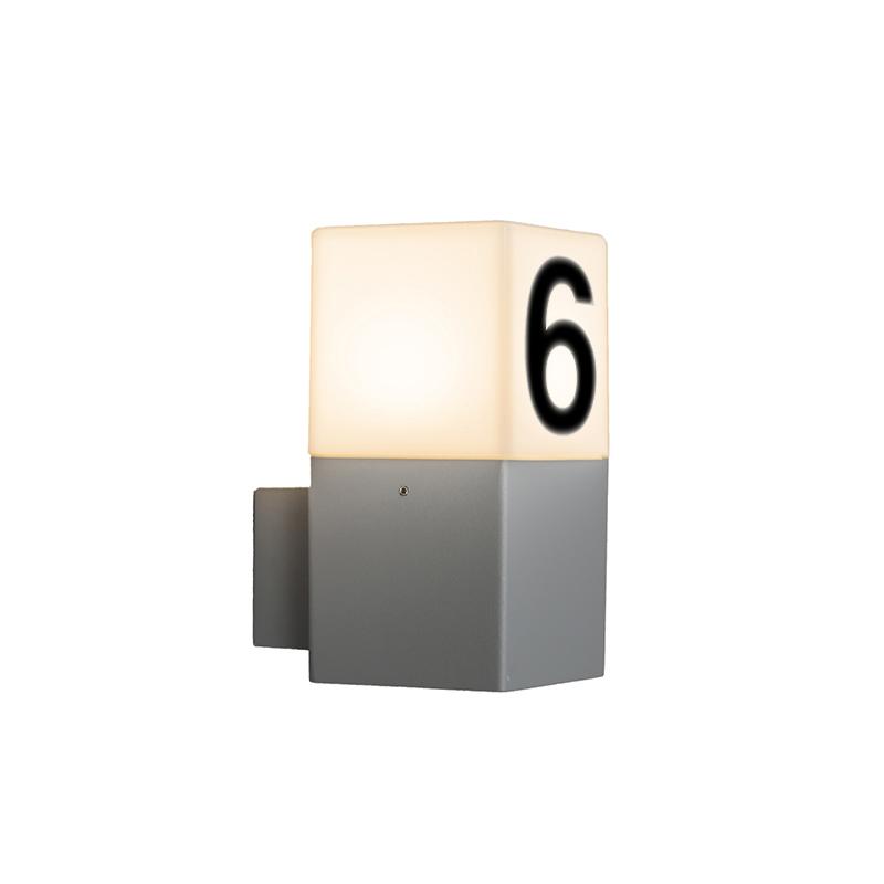 Buitenlamp Denmark wand met huisnummer