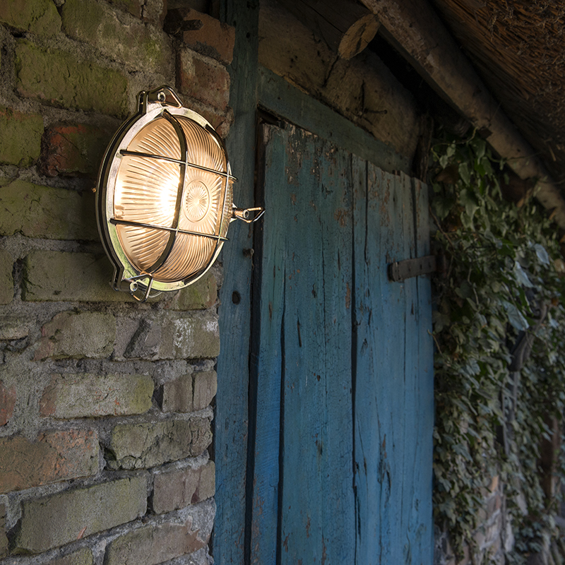 Wand- en plafondlamp Nautica rond chroom