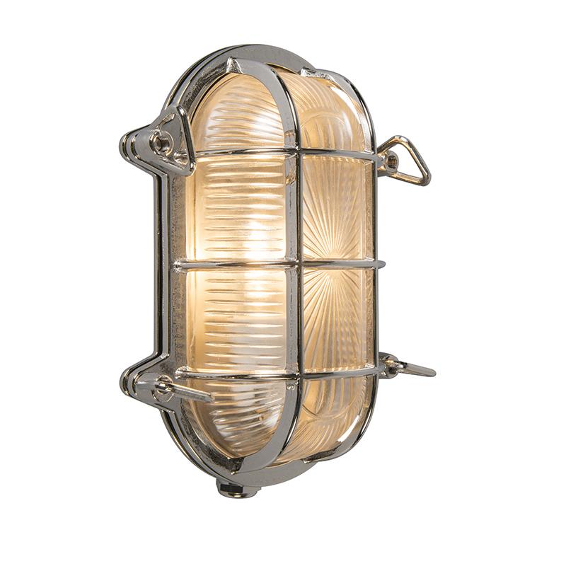 Kinkiet/ Plafon owalny chrom 23/16,5cm IP44 - Nautica 1