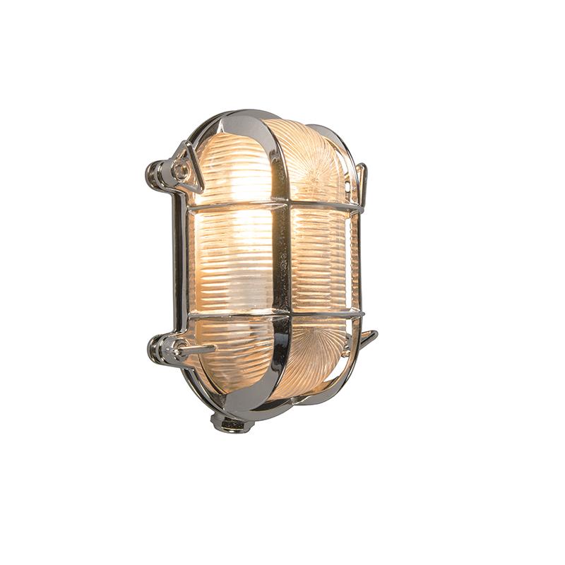 Wand- en plafondlamp Nautica 2 ovaal chroom