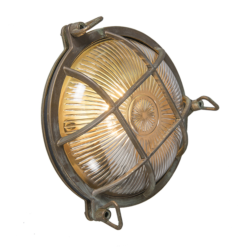 Wand- en plafondlamp Nautica rond antiek