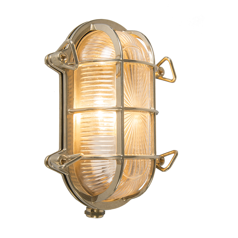 Wand- en plafondlamp Nautica 1 ovaal goud