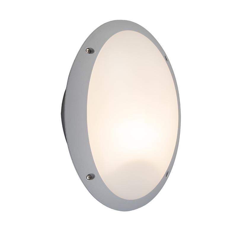 Moderne Ovale Buitenwandlamp Grijs - Maddi