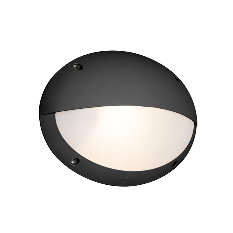 Moderne Halfronde Buitenwandlamp Zwart - Maddi