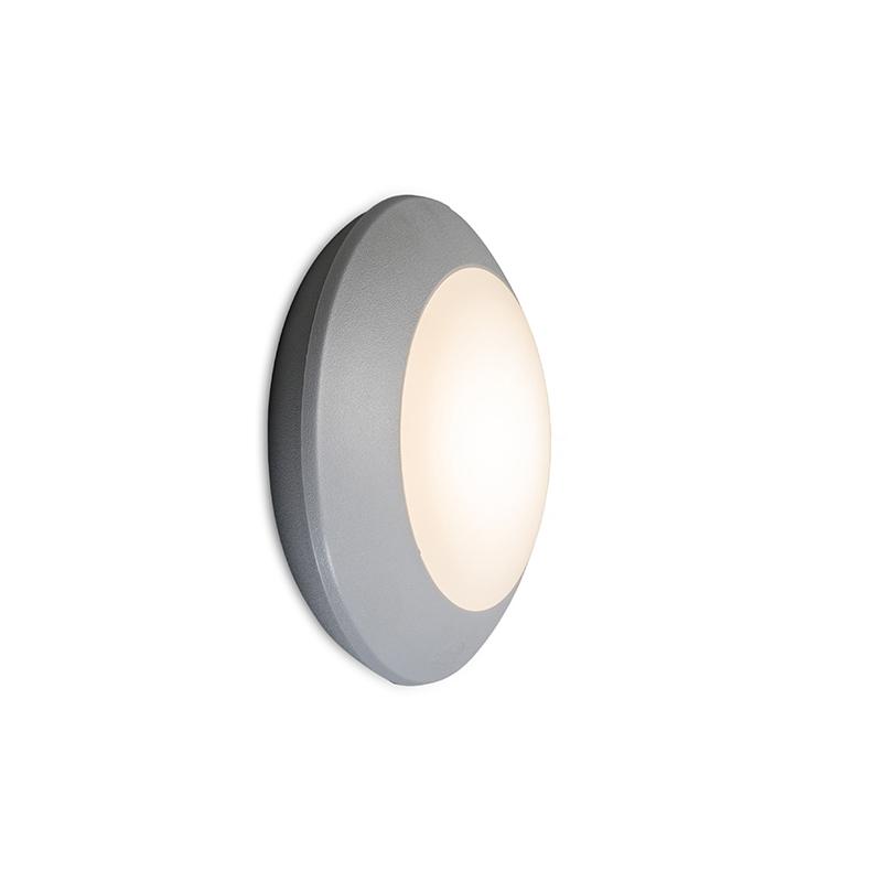 Immagine di Applique 'Bertina' moderno grigio/plastica - include LED / esterno