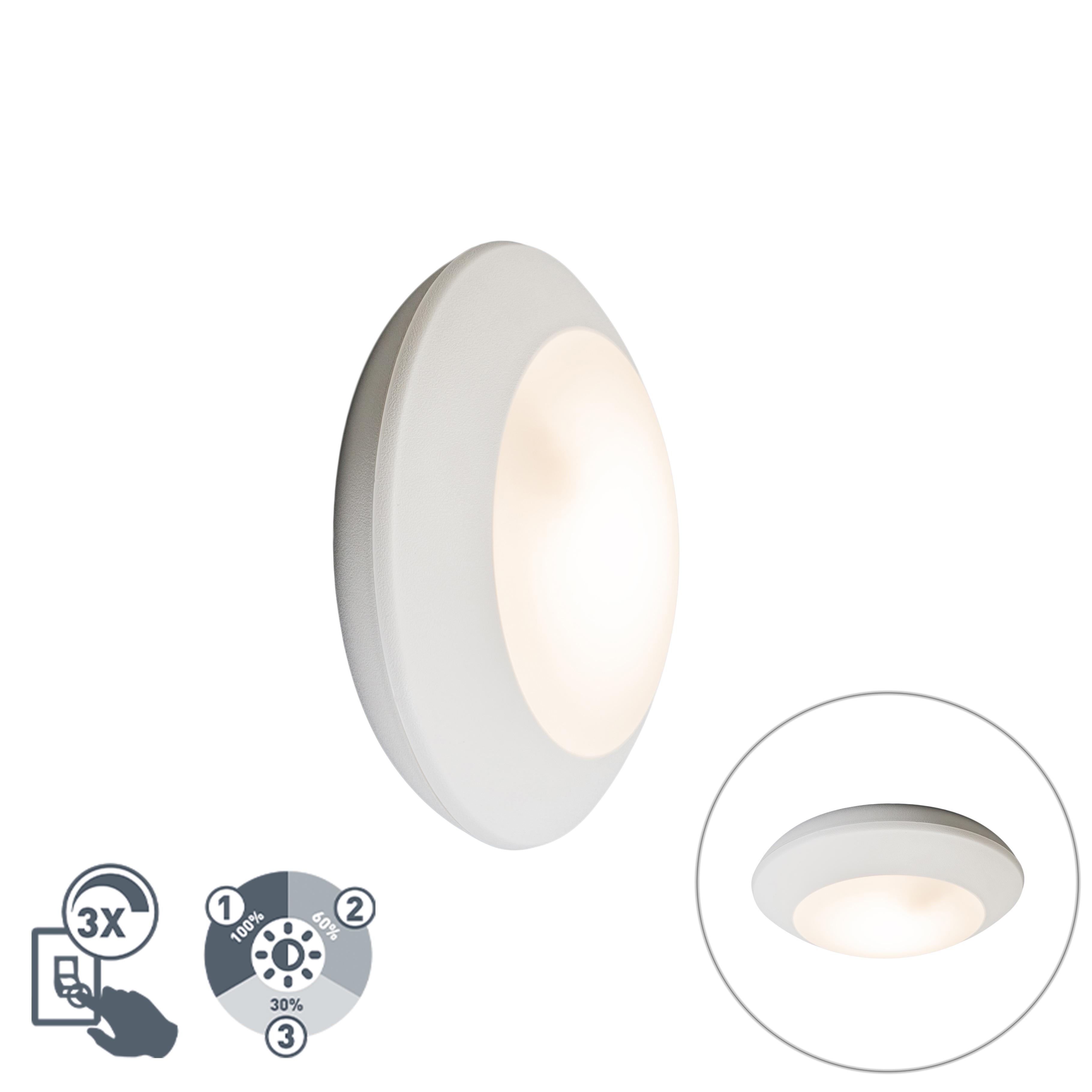 Wand- en plafondlamp wit IP65 - Bertina