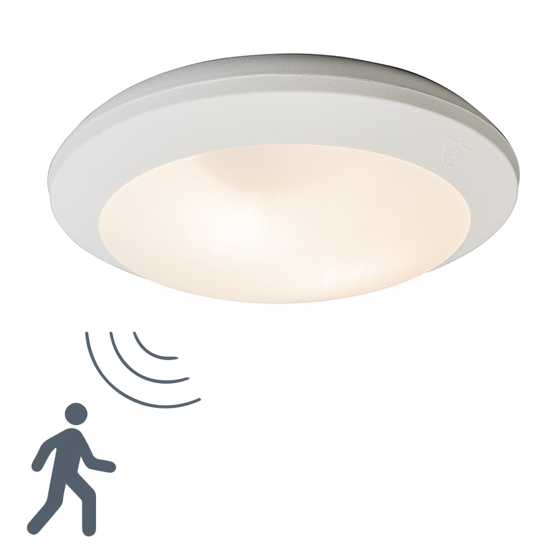Plafonniere Umberta Wit Rond Sensor