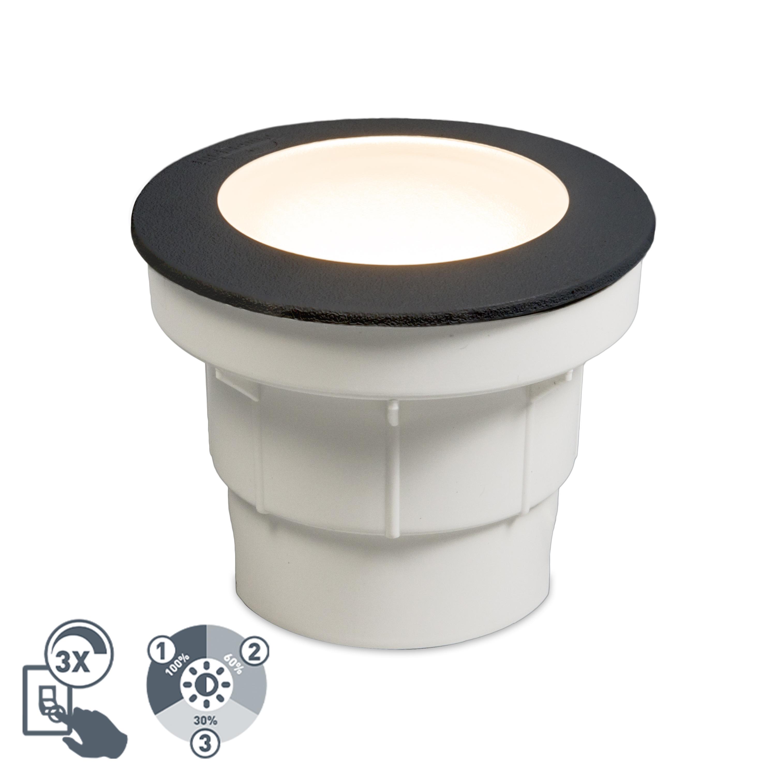 Nowoczesna oprawa dogruntowa czarna LED IP67 - Ceci