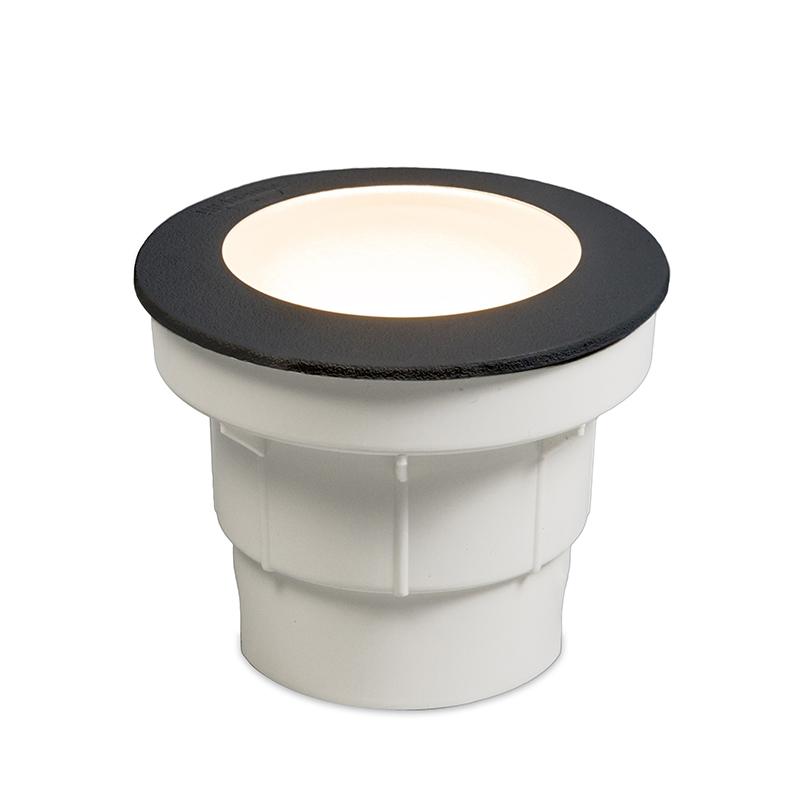 Moderne ronde buitengrondspot zwart - Ceci