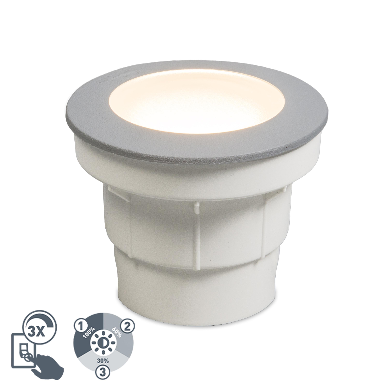 Nowoczesna oprawa dogruntowa szara LED IP67 - Ceci