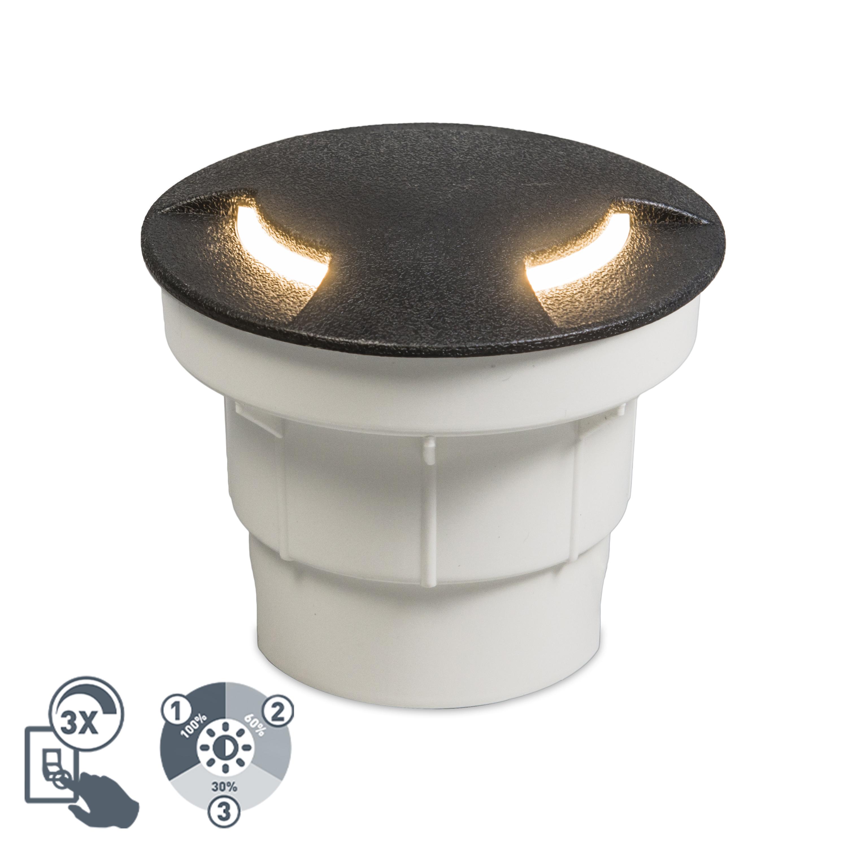 Moderne buiten grondspot zwart incl. LED IP67 - Ceci 2