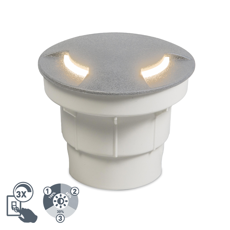 Nowoczesna oprawa dogruntowa szara LED IP67 - Ceci 2