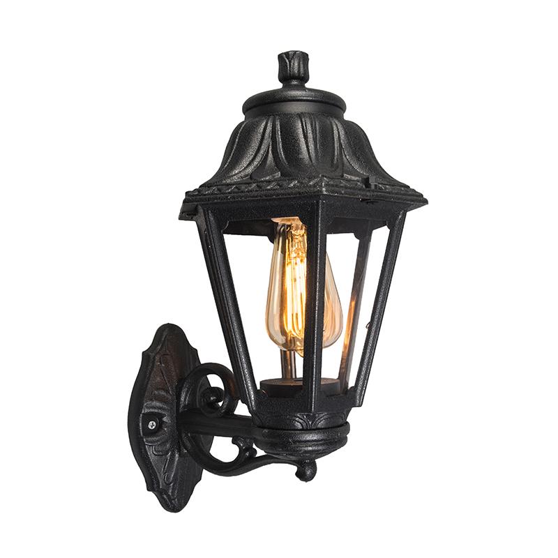 Landelijke Buitenwandlamp Zwart - Anna