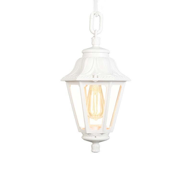 Landelijke buitenhanglamp wit IP44 - Anna