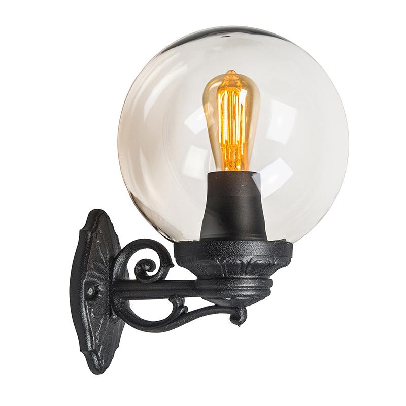 Wandlamp Basso zwart