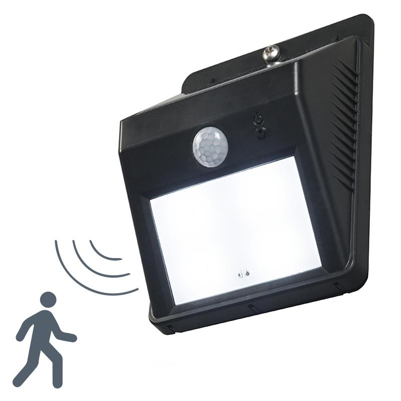 Wandlamp Twilight zwart met sensor