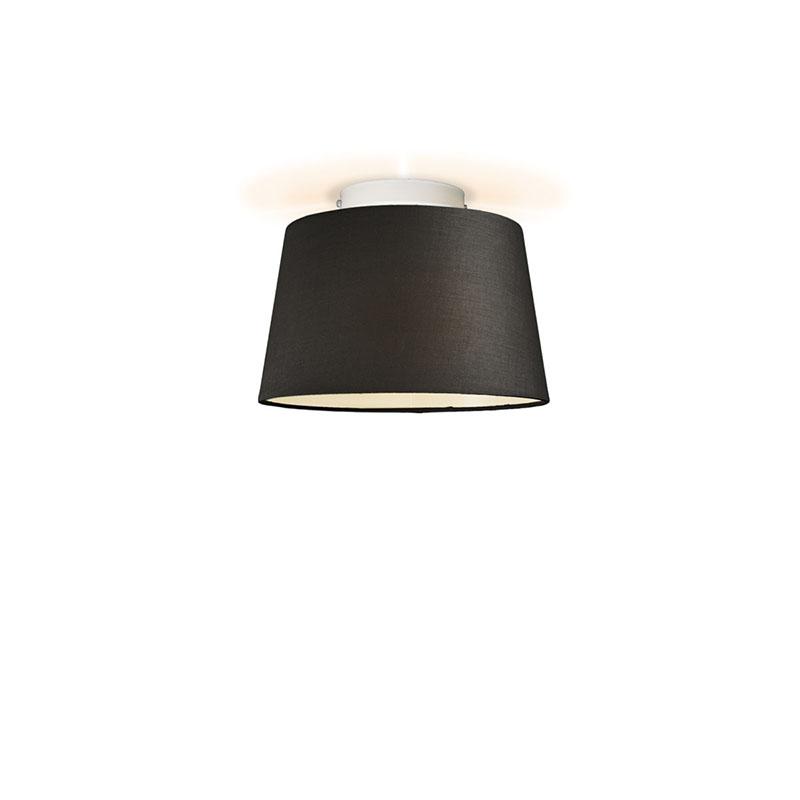 Plafonniere Ton rond 30 zwart