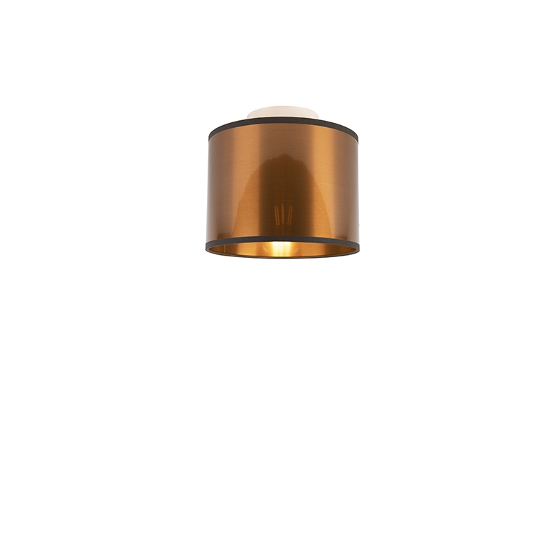 Moderne Plafondlamp Met Koperen Kap 20 Cm - Drum