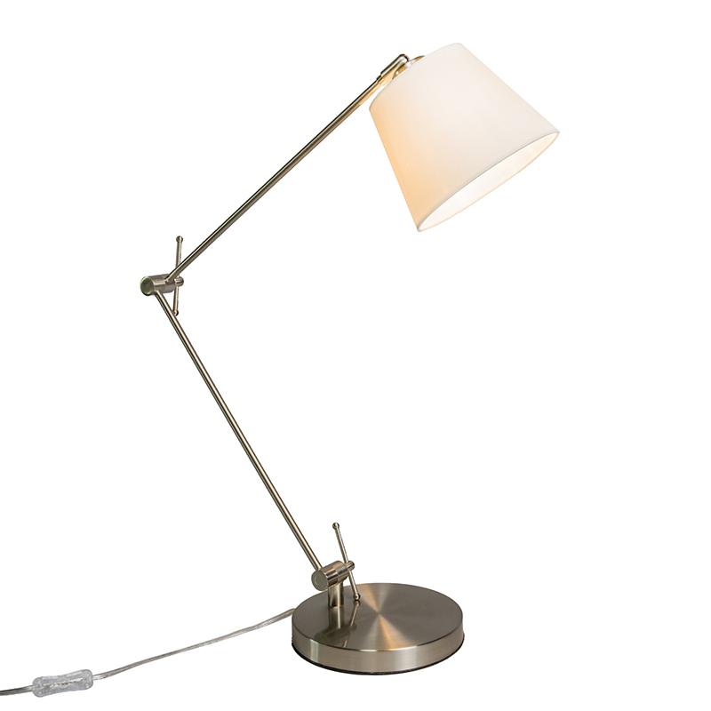 Tafellamp Editor met kap creme wit
