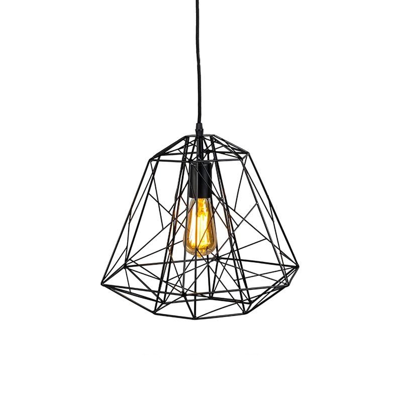 Designerska lampa wisząca czarna - Ramy