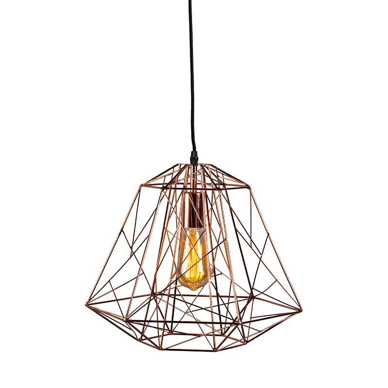 Przemysłowa lampa wisząca miedziana - Framework