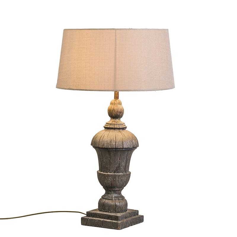 Tafellamp Totem met creme kap