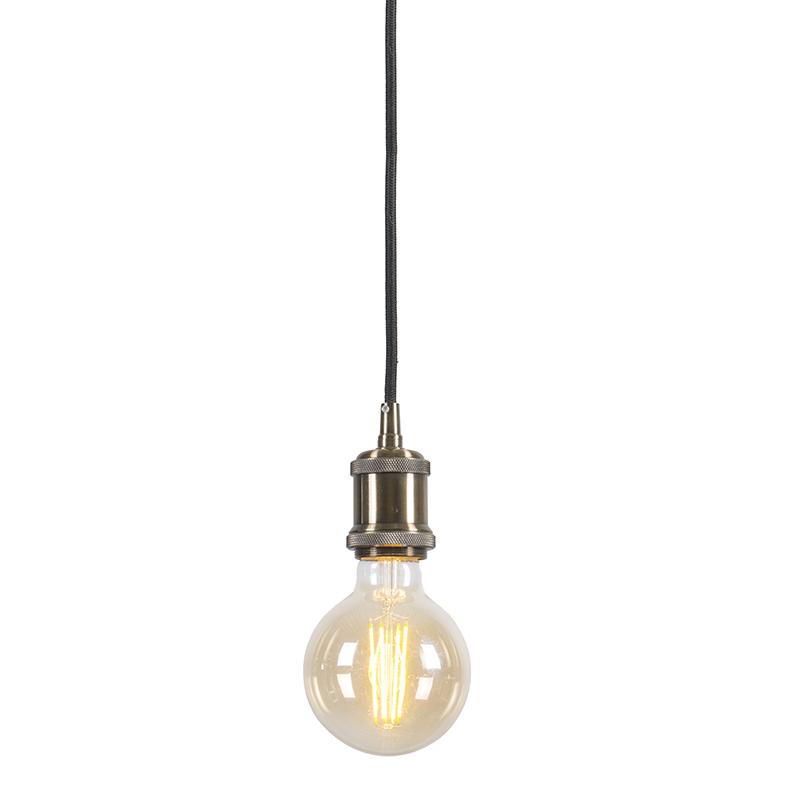Hanglamp Cava Classic brons kabel zwart