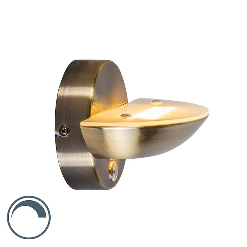 Wandlamp Plato brons