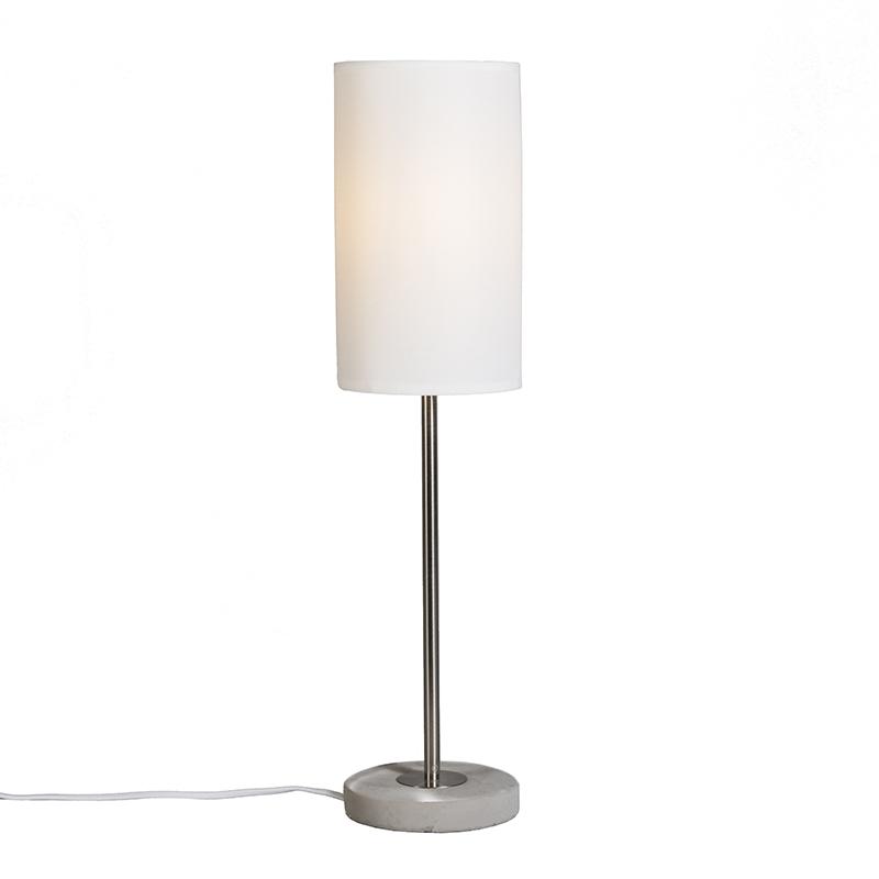 Tafellamp Concreto wit
