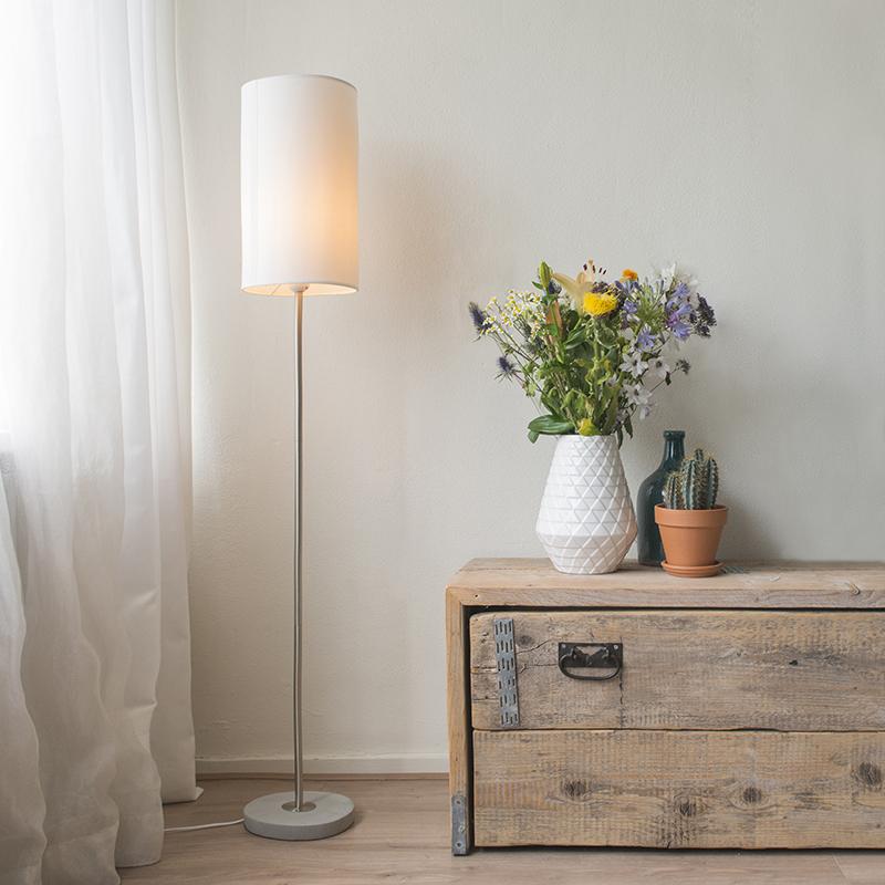 Vloerlamp Concreto wit