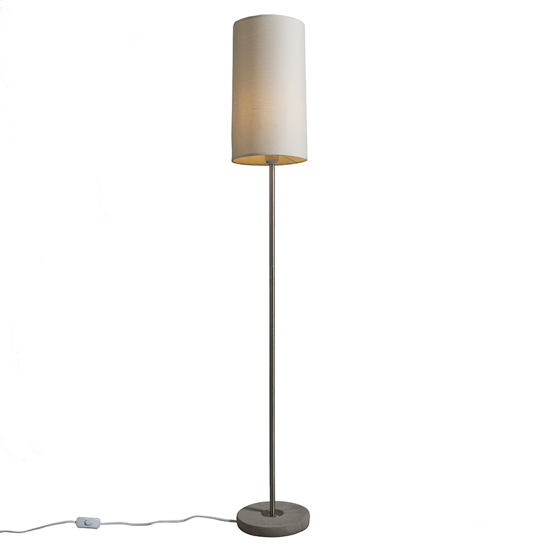 Vloerlamp Concreto licht taupe