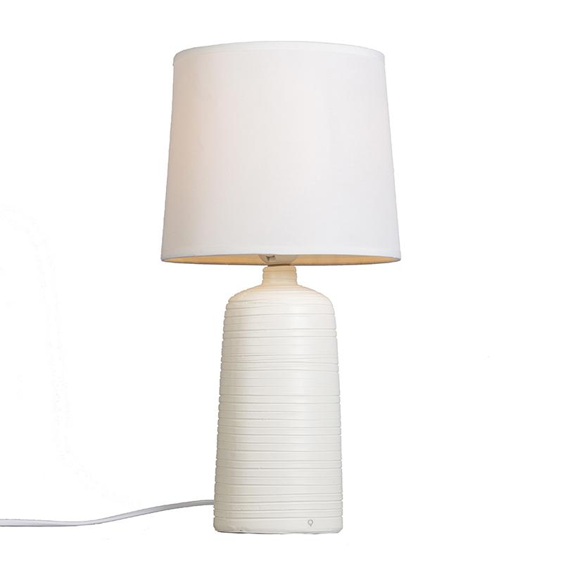 Tafellamp Ceramic wit