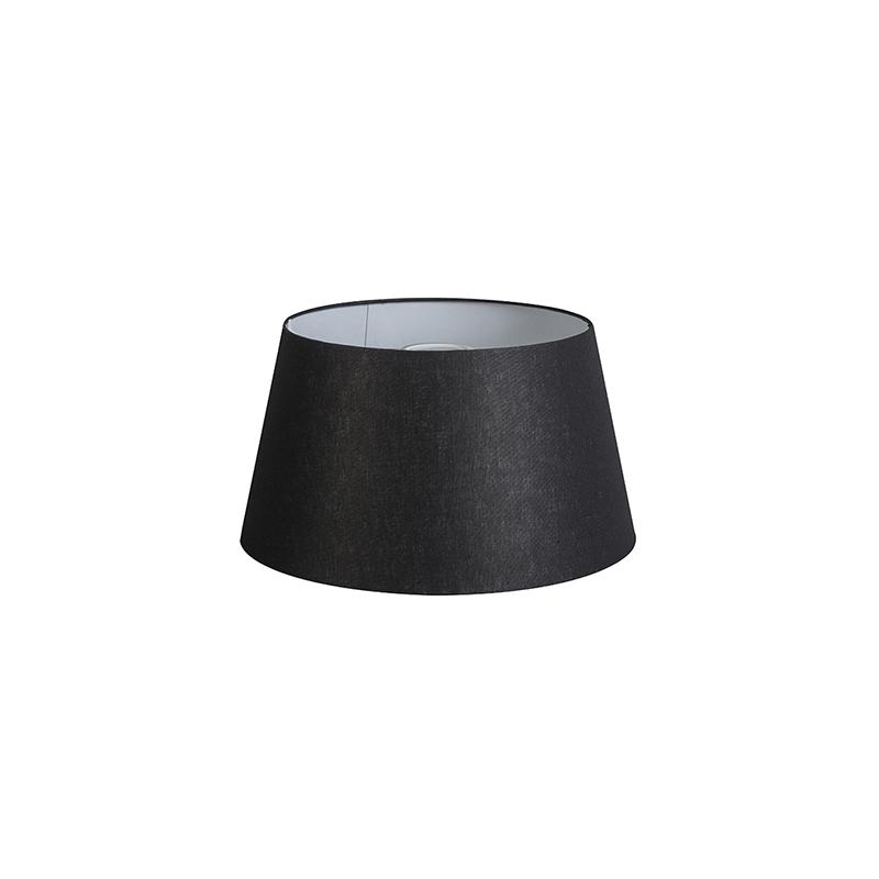Kap 32cm rond DS E27 linnen zwart