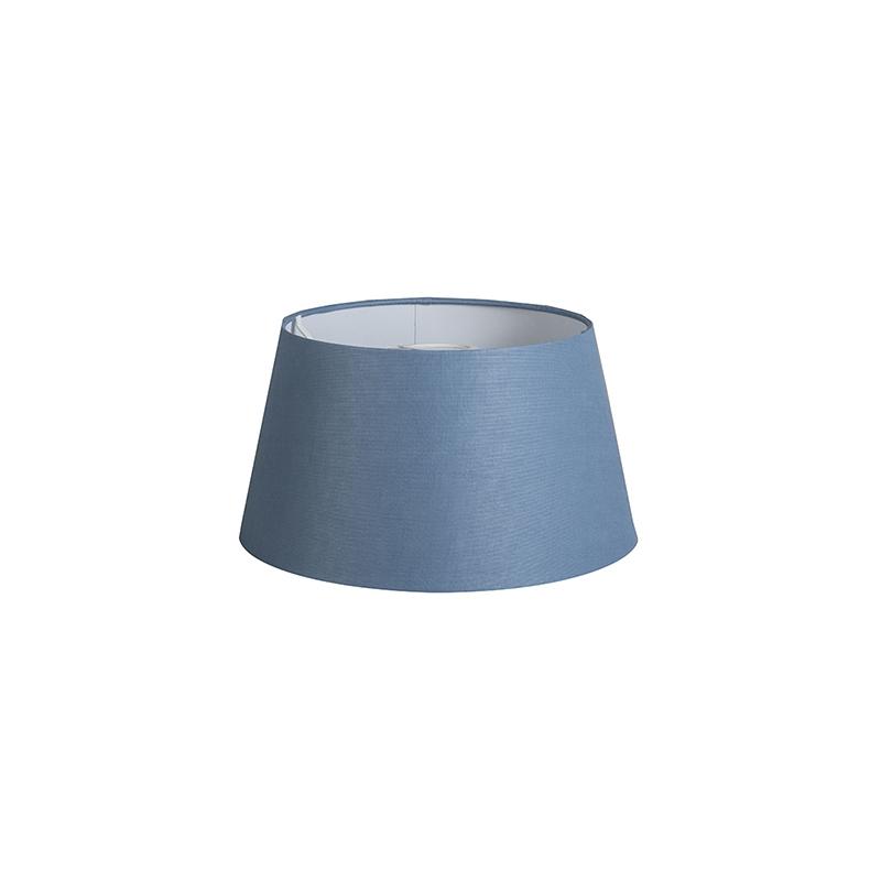 Kap 32cm rond DS E27 linnen blauw
