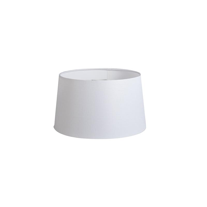 Kap 35cm rond DS E27 linnen wit