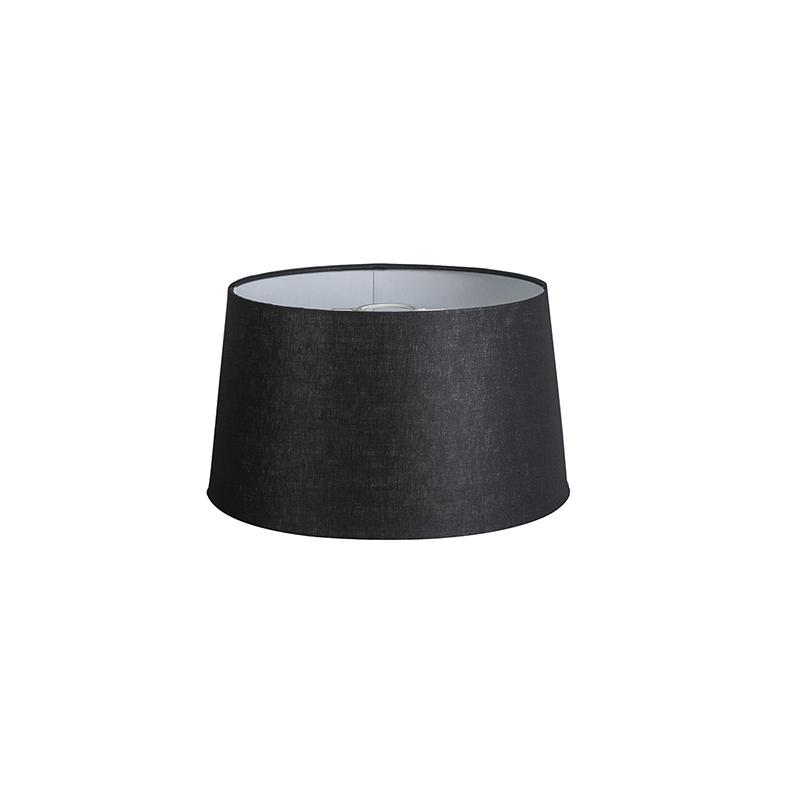 Linnen lampenkap zwart 35 cm