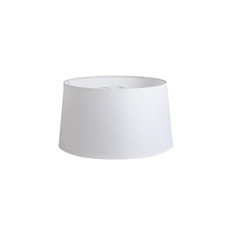 Kap 40cm rond DS E27 linnen wit