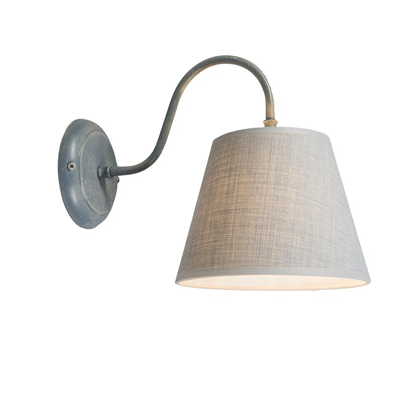 Wandlamp Silea Down met kap antiek grijs