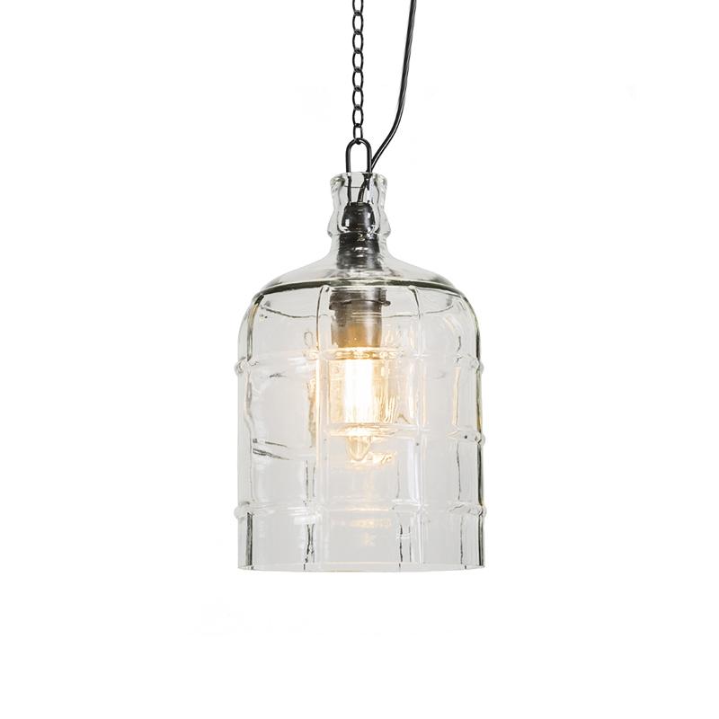 Landelijke hanglamp helder glas - Vaso