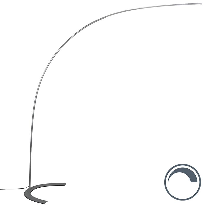 Moderne Booglamp Grijs Incl. Led - Piegato