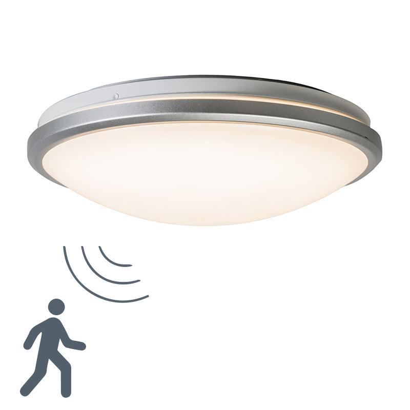 Moderne plafonniere grijs incl. LED en bewegingsmelder - Captur