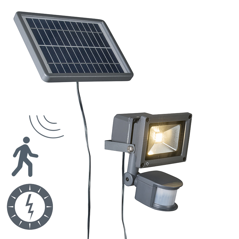 Solar LED straler Strain donkergrijs