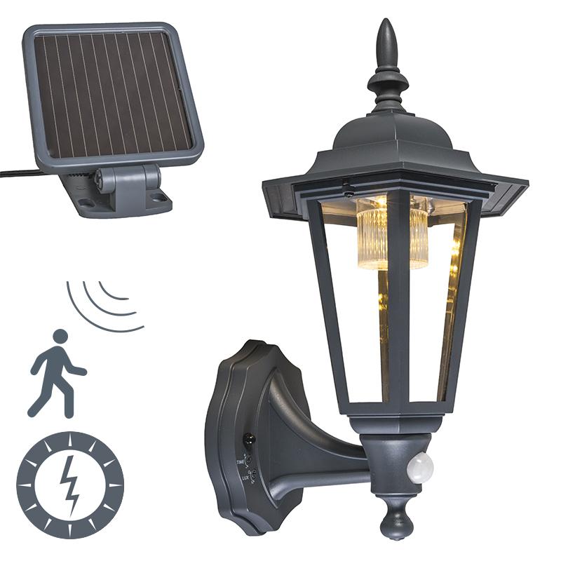 Buiten wandlantaarn antraciet incl. LED en solar - New York